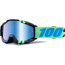 100% Accuri Anti Fog Mirror goggles zwart/turquoise